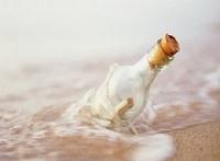 Botella al mar en homenaje a los Cinco